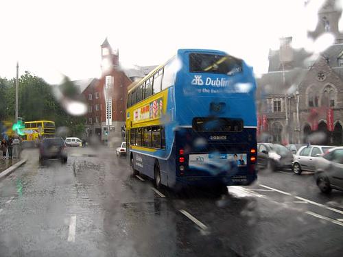 Lluvia en Dublin