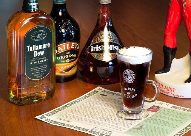 El café irlandés, un delicioso aroma caliente