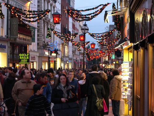 Navidad en Grafton Street, Dublin