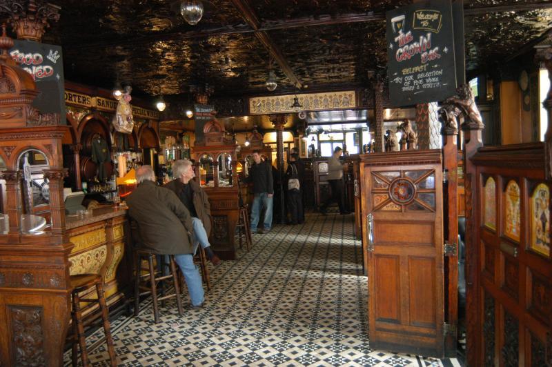 Interior de Crown Liquor Saloon