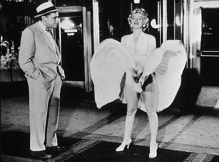 Marilyn Monroe, en una exposición en Newbridge