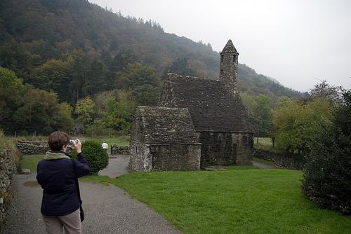Ruinas de San Kevin en Glendalough