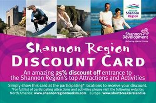 La tarjeta de descuentos turísticos de Shannon