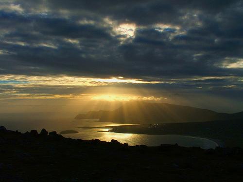 Atardecer en la isla de Achill