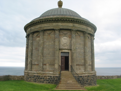 Mussenden Temple, con vistas al Atlantico