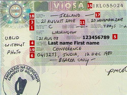 aduana y el visado en Irlanda
